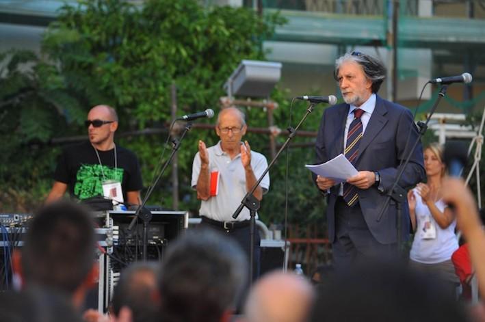 Quel discorso di Roberto Scarpinato. Sit-in in sua difesa a Roma