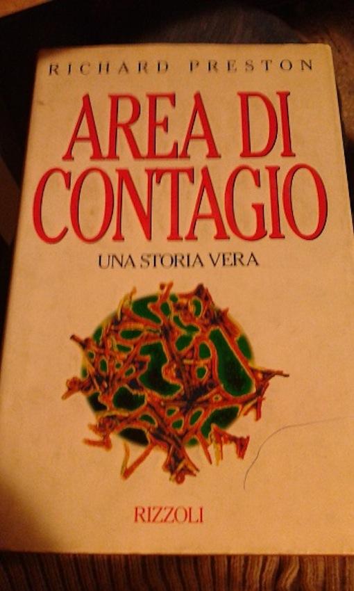 """""""Area di contagio"""", scritto nel 1994 dal giornalista scientifico statunitense Richard Preston. L'autore ipotizza un legame tra la deforestazione dell'Africa e la diffusiobe dell'ebola."""