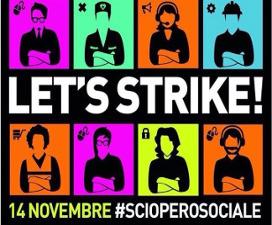sCIOPERO SOCIALE CON FIOM
