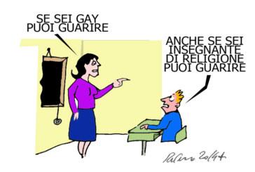 I gay, i marò e la giustizia malata, l'umorismo graffiante di Tiziano Riverso