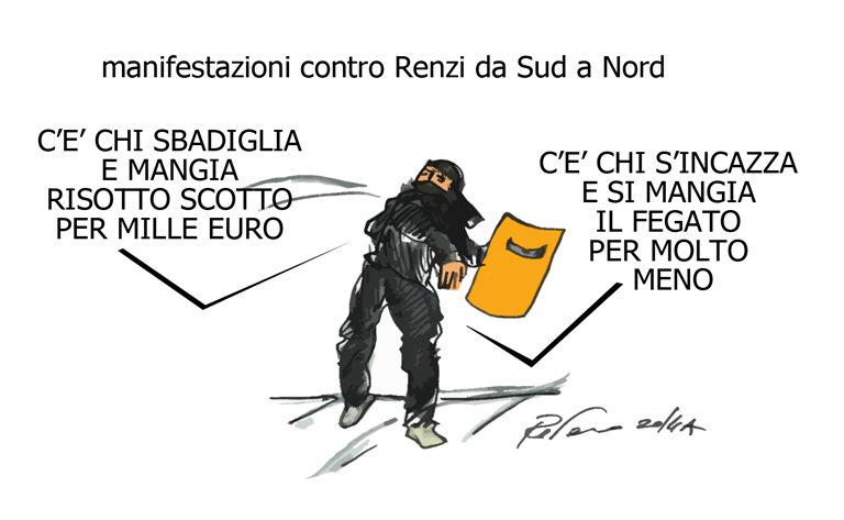 Dante, la pioggia e il governo ladro, l'umorismo graffiante di Tiziano Riverso