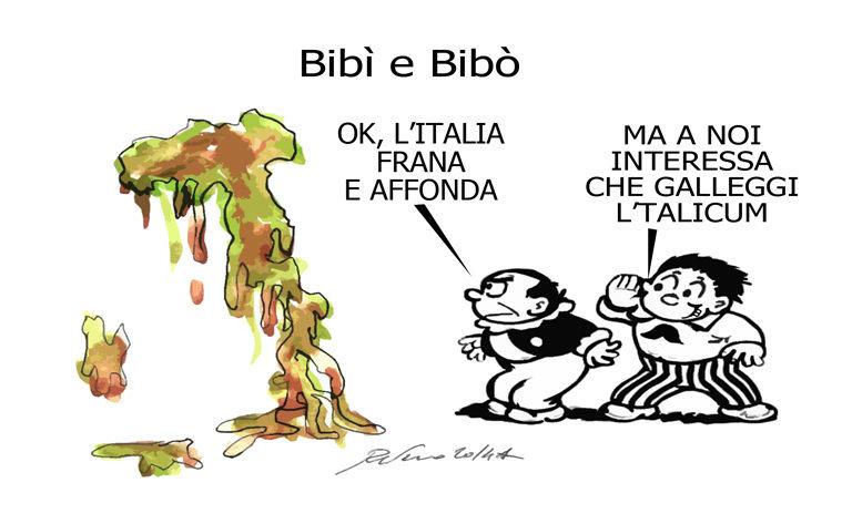 Junker, la Cgil e Bibì e Bobò, l'umorismo graffiante di Tiziano Riverso