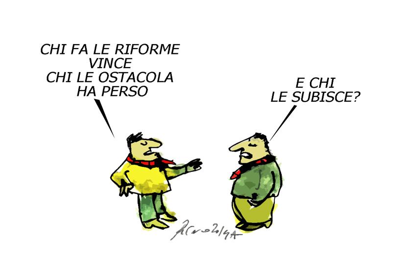 Renzi, il Darfur e i cazzi nostri, l'umorismo graffiante di Tiziano Riverso