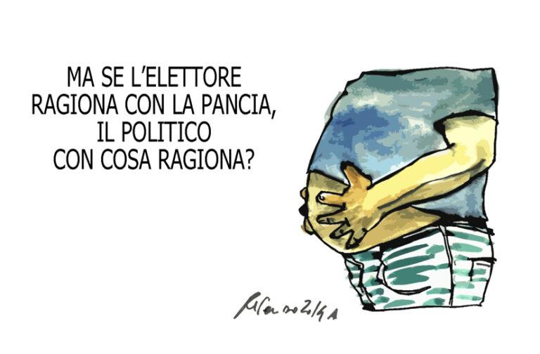 Grillo, il vaccino e… la pancia, l'umorismo graffiante di Tiziano Riverso