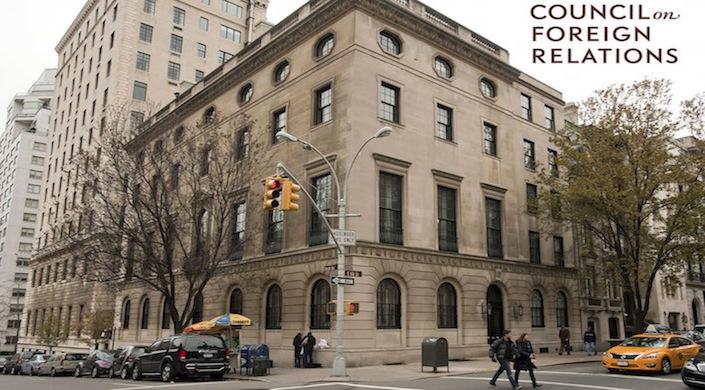 La sede del Council on Foreign Relations a New York, un istituto para massonico statunitense, dove Renzi ha tenuto un discorso lo scorso 24 settembre.