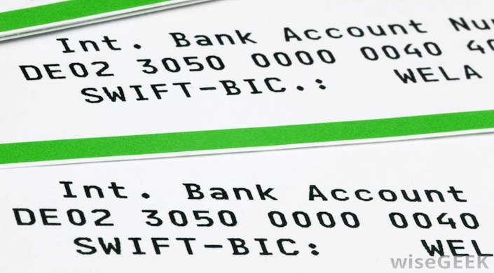 Non è possibile fare bonifici internazionali senza conoscere il codice Swift del ricevente.