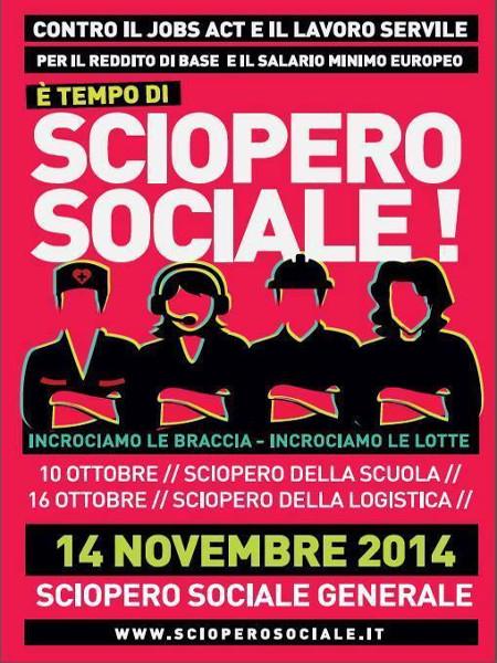 14 novembre sciopero sociale