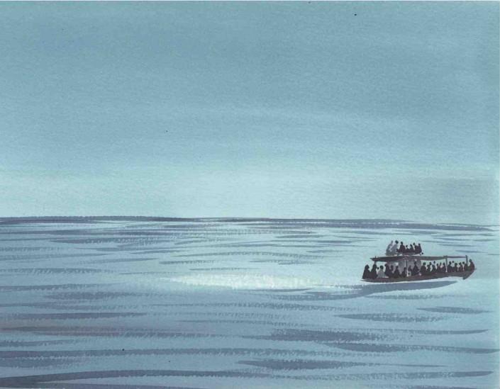 """una tavola di Alessandro Sanna dal nuovo libro di MASSIMO CARLOTTO """"LA VIA DEL PEPE. FINTA FIABA AFRICANA PER EUROPEI BENPENSANTI"""""""