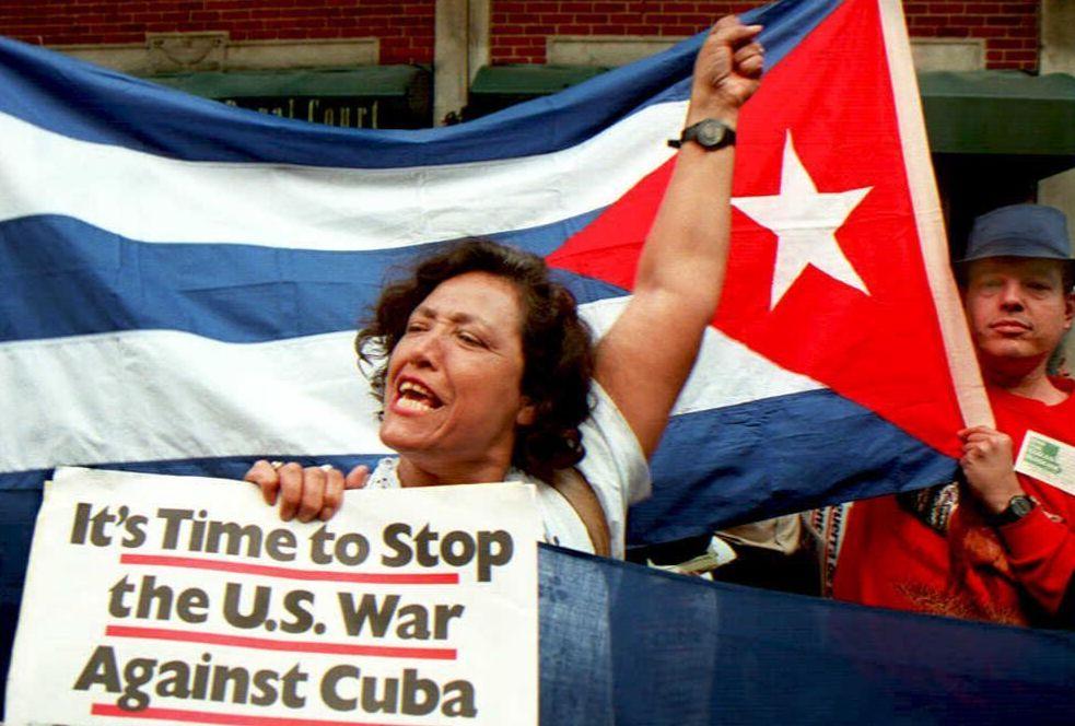 Cuba manif contro embargo
