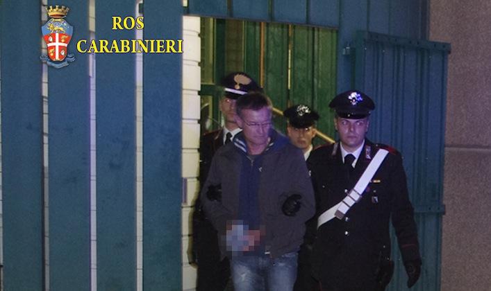 L'arresto di Massimo Carminati da parte del Raggruppamento operativo speciale dei Carabinieri.