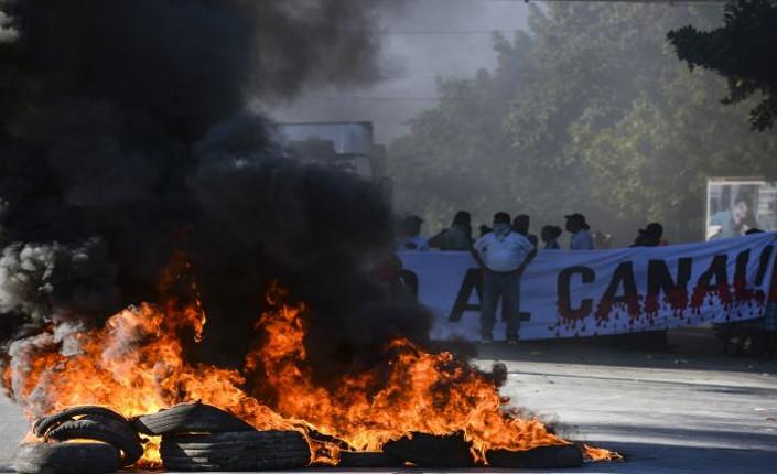 I manifestanti di Rivas bloccano la Panamericana