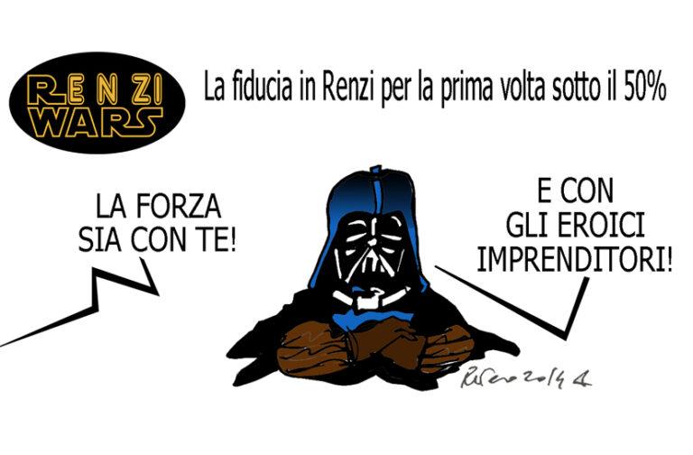 Renzi, la Le Pen e i bimbi rom, l'umorismo graffiante di Tiziano Riverso