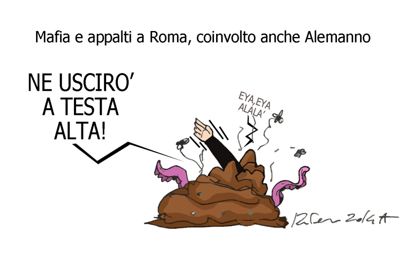 Renzi, la merda e Salvini, l'umorismo graffiante di Tiziano Riverso