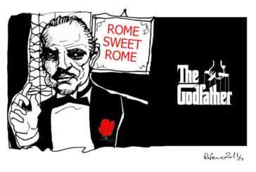 Il Padrino, il nucleare e Alemanno, l'umorismo graffiante di Tiziano Riverso