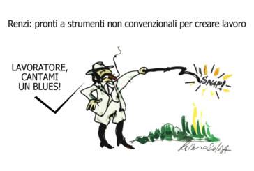 Renzi, i pellerossa e il magna magna, l'umorismo graffiante di Tiziano Riverso