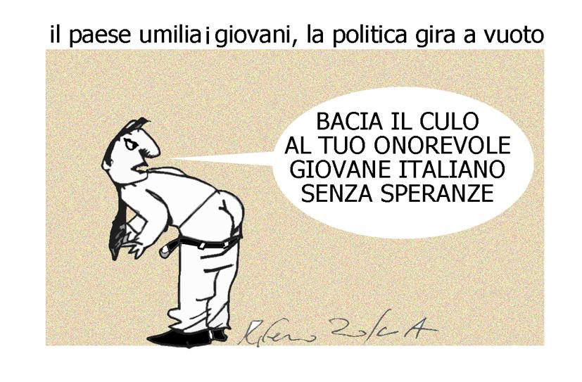 Renzi, la pisciata e il culo onorevole, l'umorismo graffiante di Tiziano Riverso
