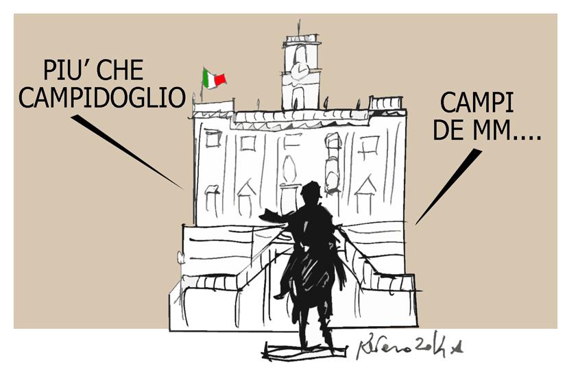 Tsipras, il Campidoglio e il maglione di Renzi, l'umorismo graffiante di Tiziano Riverso