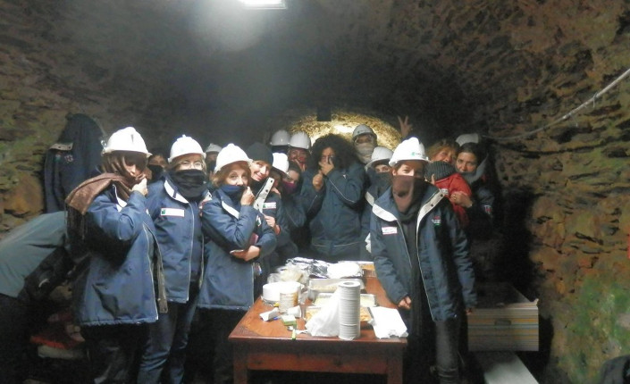 Sulcis: lavoratrici Igea ancora in galleria