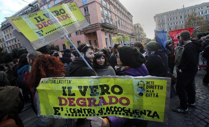 Roma manifestazione 13 dicembre 2014