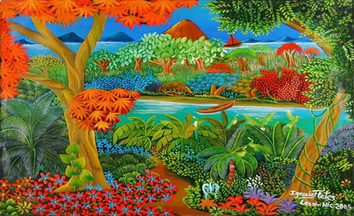Rio Escondido - José Ignacio Fletes Cruz (Leon, Nicaragua) Acrylic on canvas, 2005