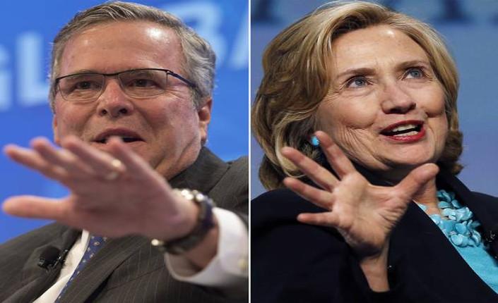 Jeb Bush e Hillary Clinton