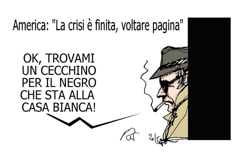 Obama, la cagata e l'Italicum, l'umorismo graffiante di Tiziano Riverso