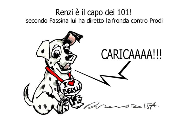 Ferrara, Draghi e la carica dei 101, l'umorismo graffiante di Tiziano Riverso