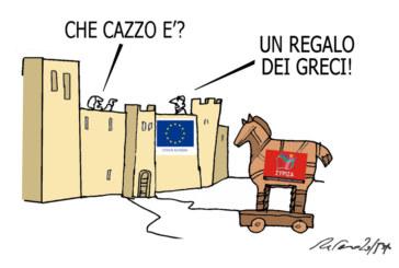 Brecht, Schettino e il cavallo di Troia, l'umorismo graffiante di Tiziano Riverso