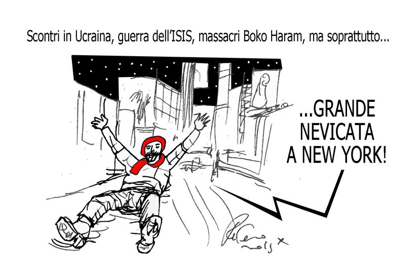 L'Europa, la neve e la fata turchina, l'umorismo graffiante di Tiziano Riverso