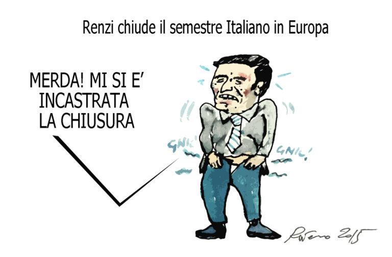 Renzi, la fatwa e il pupazzo di neve, l'umorismo graffiante di Tiziano Riverso