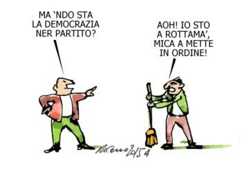 Cofferati, Gentiloni e la cicogna, l'umorismo graffiante di Tiziano Riverso