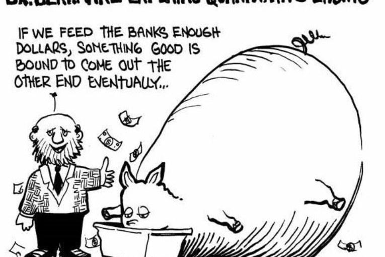 Quantitative easing, salvagente per banche