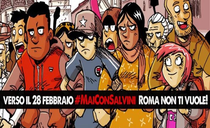 Mai COn Salvini Roma non ti vuole 28 2 2015