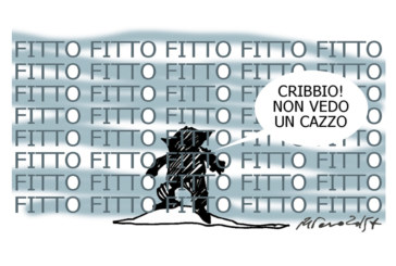 Fitto, la Troika e il maltempo, l'umorismo graffiante di Tiziano Riverso