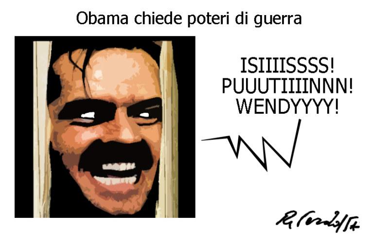 Obama, Grillo e le lacrime di coccodrillo, l'umorismo graffiante di Tiziano Riverso