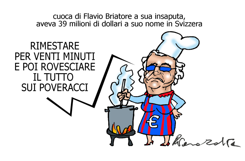 Briatore, il Transatlantico e i Barbapapà, l'umorismo graffiante di Tiziano Riverso
