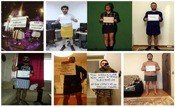 autoscatti uomini turchi contro la violenza