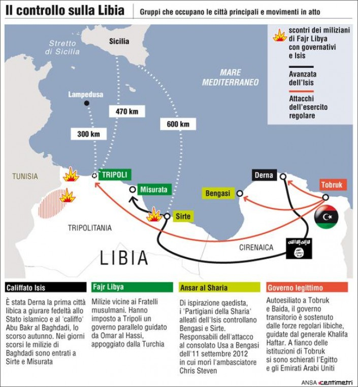INFOGRAFICA: dalle speranze della Rivoluzione all'avanzata dell'Isis gli ultimi quattro anni in Libia