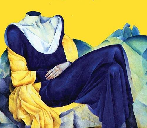 Nathan Altman, ritratto a Anna Achmatova, 1918, da Elena Ferrante, La frantumaglia, E/o