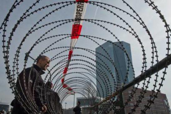 5 Nuova sede BCE a Francoforte difesa dal filo spinato