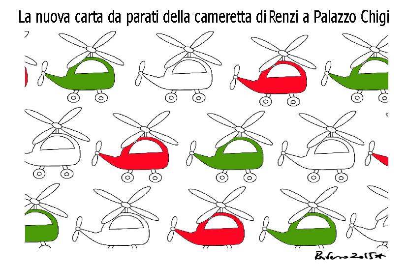La morte, l'equilibrista e l'elicottero di Renzi, l'umorismo graffiante di Tiziano Riverso