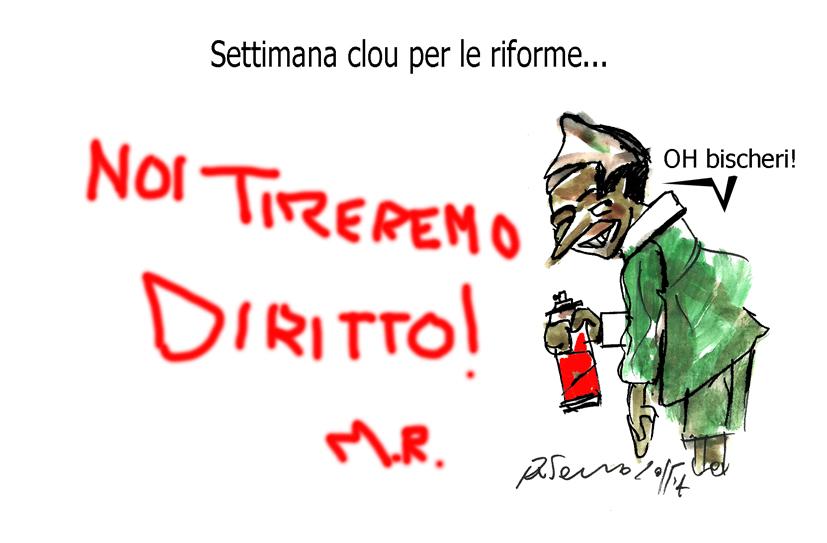 Pinocchio, Madonna e il ceceno cattivo, l'umorismo graffiante di Tiziano Riverso