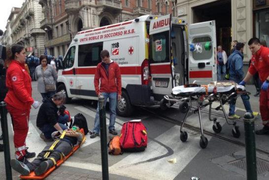 il ferito soccorso dal 118
