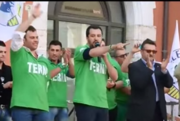 Salvini ringrazia Terni. Che lo contesta (video)