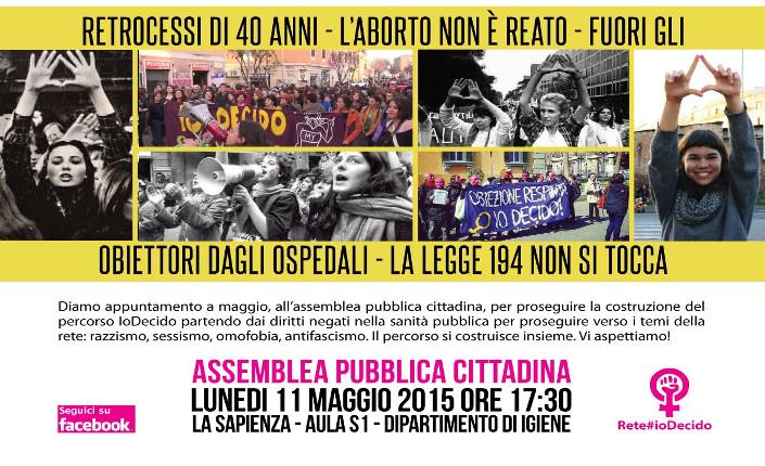 IoDecido Assemblea 11 maggio a Roma