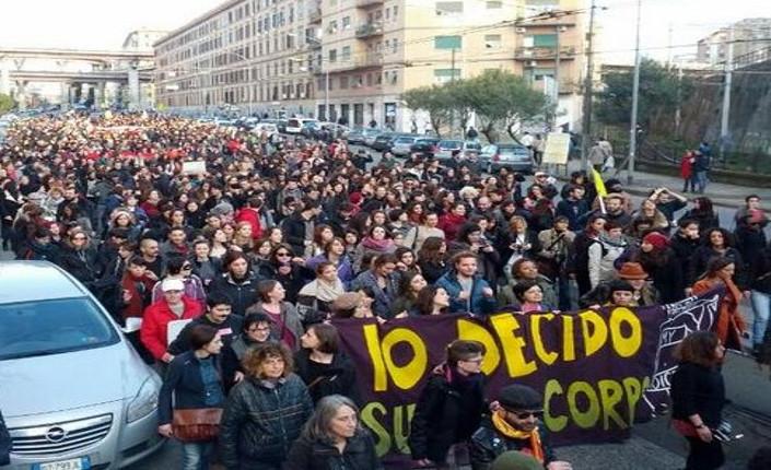 Manifestazione dell'8 marzo 2014 organizzata a Roma dalla rete IoDecido