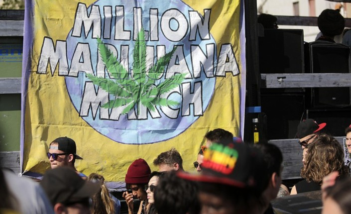 Million marijuana march. Roma, 2014