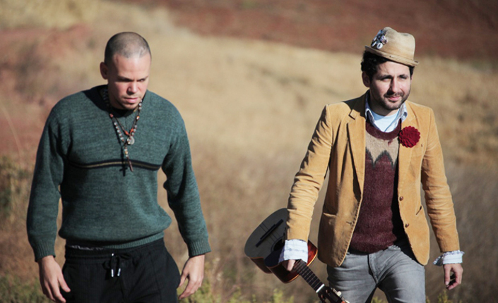 """da sinistra René Pérez Joglar e Eduardo José Cabra Martinez, i """"Calle 13"""""""