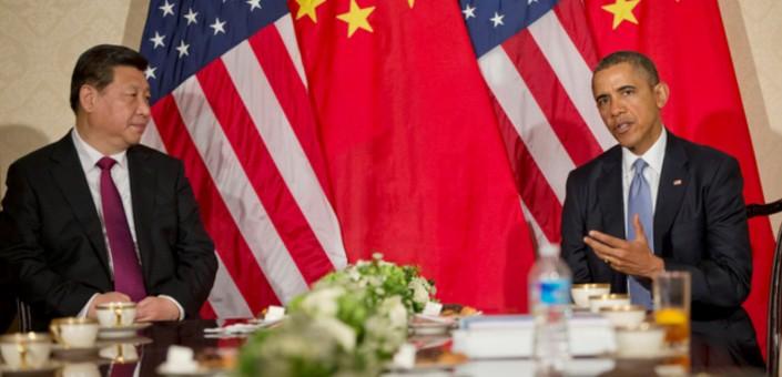 Gli sforzi cinesi per il soft power sono vanificati, all'interno, dai diritti umani, e, all'esterno, dai rapporti tesi con i vicini: nella foto il Presidente della Repubblica Popolare Cinese Xi Jinping, con Obama all'Aia;