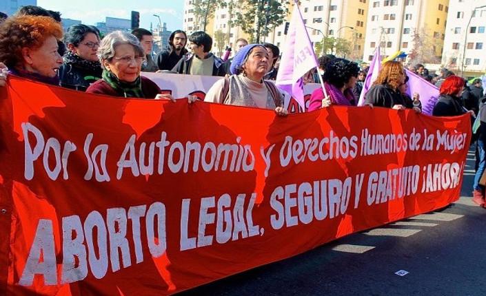 Manifestazione a Santiago de Cile